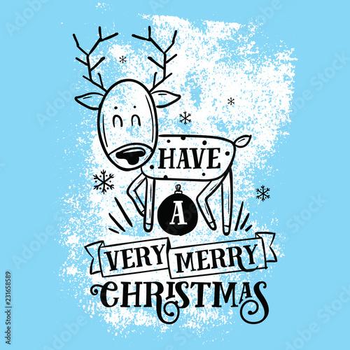 Foto op Plexiglas Kerstmis Merry Christmas typography.