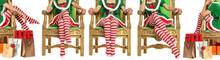 Woman Legs And Christmas Socks