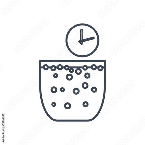 thin line icon fermentation, aeration Billede på lærred