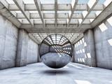 Fototapeta Persperorient 3d - Modern concrete hall