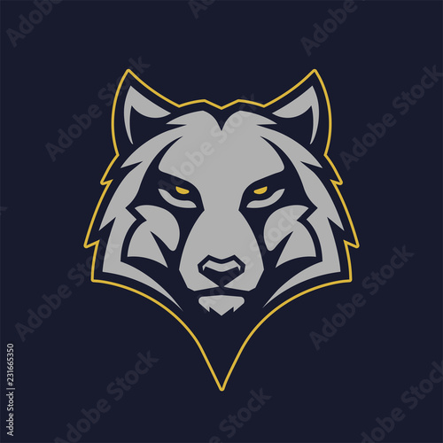 Wolf Mascot Vector Icon Wall mural