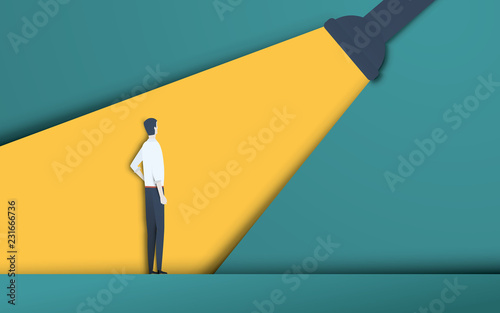 Fotografía  Business recruitment and talent headhunting vector concept in modern 3d paper cutout style
