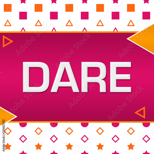 Dare Pink Orange Basic Shapes Triangles Canvas Print