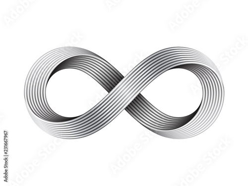 Infinity sign made of metal cables Wallpaper Mural