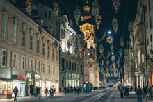 Graz City Streets Christmas Advent Decorations