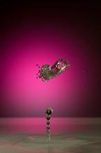 Splash Of Colorful Liquid With...