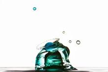 Splash Of Mixed Color Liquid W...