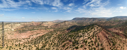 Mountains with argan trees in Morocco Canvas Print
