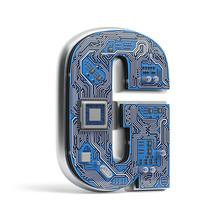Letter G.  Alphabet In Circuit...