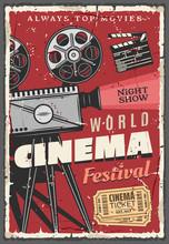 Cinema Festival Retro Poster, ...