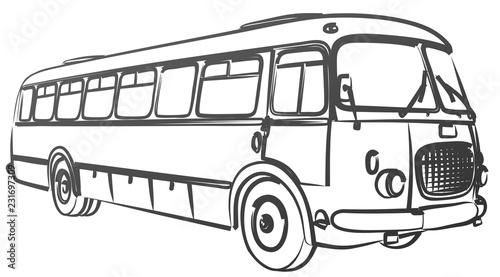 Sketch of big old bus.  © designer_an