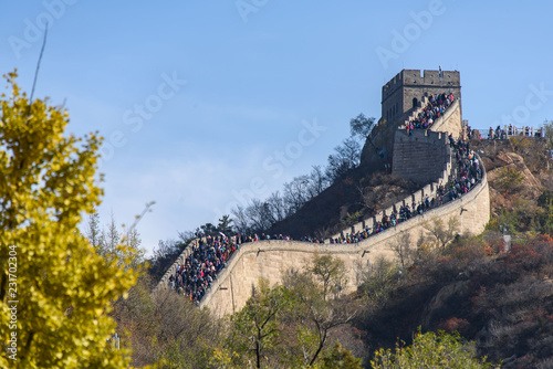 Deurstickers Chinese Muur Great Wall in Badaling