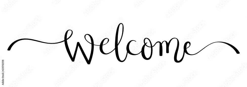 Fototapeta WELCOME brush calligraphy banner