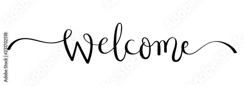 Obraz WELCOME brush calligraphy banner - fototapety do salonu
