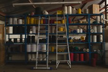Rope Roll Arranged In Pallet R...