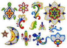 Mexican Traditional Decorative Objects.