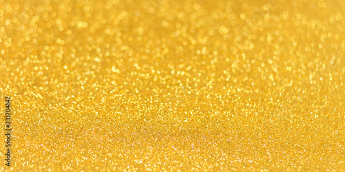 Golden glitter shiny texture background for christmas, Celebration concept.