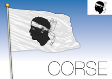 Corsica Regional Flag, France, Vector Illustration