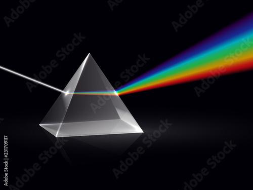 Light rays in prism Wallpaper Mural