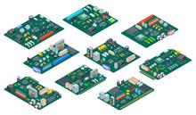 Circuit Board Isometric. Elect...