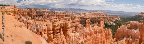 In de dag Canyon landscape on the bryce canyon in the united states of america