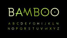 Green Nature Alphabet. Bamboo ...