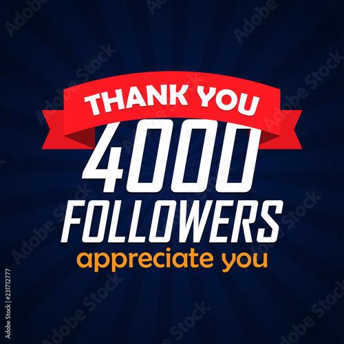Valokuvatapetti Thank you followers congratulation background