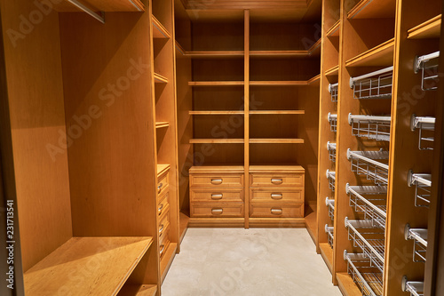 Fotografie, Obraz  Luxury wardrobes in the dressing room in modern style