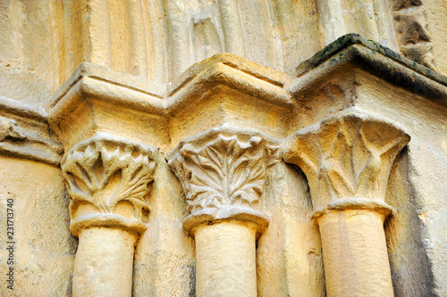 Architectural detail in the Church of the Holy Cross (Santa Cruz) in Baeza. Renaissance city in the province of Jaén. World heritage site by Unesco. Andalusia, Spain