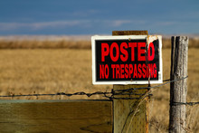 No Trespassing Sign In The Countryside
