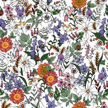 Summer Wildflowers, Seamless V...