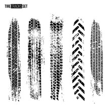 Tire Track Texture Set Isolate...