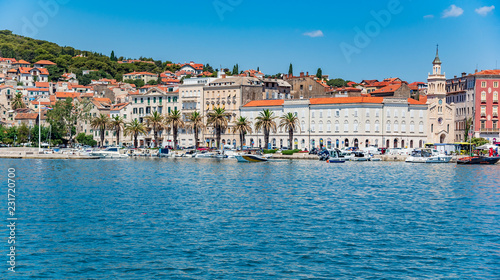 Foto op Aluminium Historisch geb. Split city promenade in the summer. Split, Croatia.