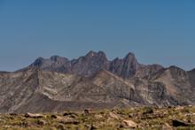 "The ""Crestones"".  Crestone Peak And Crestone Needle Mountains As Seen From Mt. Herard.  Sangre De Cristo Mountains, Colorado Rockies."