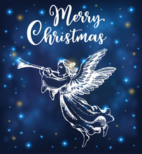 Christmas Angel Blows Into The...