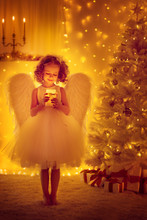 Christmas Angel Child With Win...