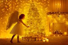 Christmas Tree And Angel Child...