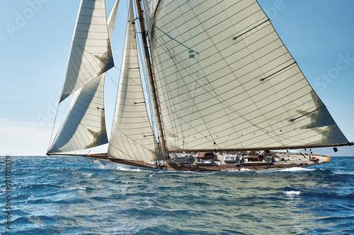 Staande foto Zeilen Sailing ship yacht race. Yachting. Sailing. Regatta. Classic sail yachts and sailboats