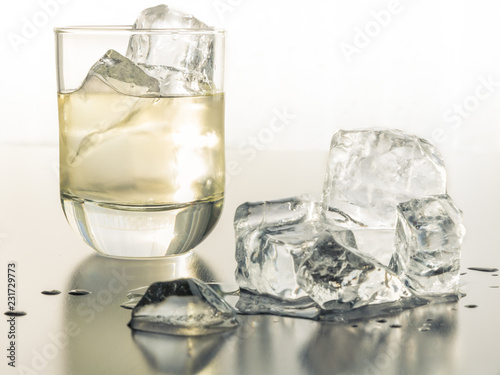 Photo  A Thirst Quenching Glass of Tequila on the rocks