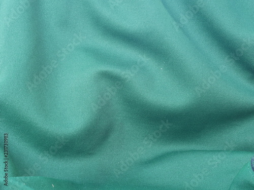 Fotobehang Stof green silk cloth background,texture of fabric