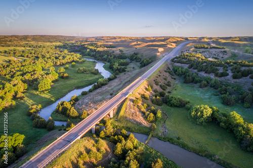 Riviere Dismal River in Nebraska Sandhills
