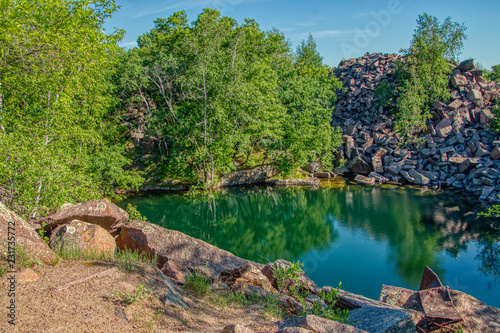 Fotografie, Obraz  Former Quarry transformed into a City Park and popular Swimming Hole in St