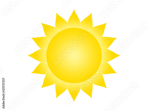 Obraz Symbol of the sun on a white background - fototapety do salonu