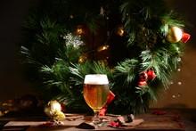 Christmas Beer Glass Bar Holiday