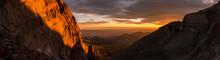 Sunrise Panorama In Rocky Moun...