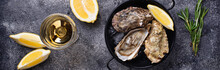 Fresh Oysters With Lemon And W...
