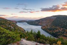Jordan Lake At Acadia NP In The Fall