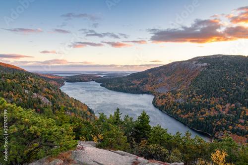 Jordan Lake at Acadia NP in the Fall Canvas Print