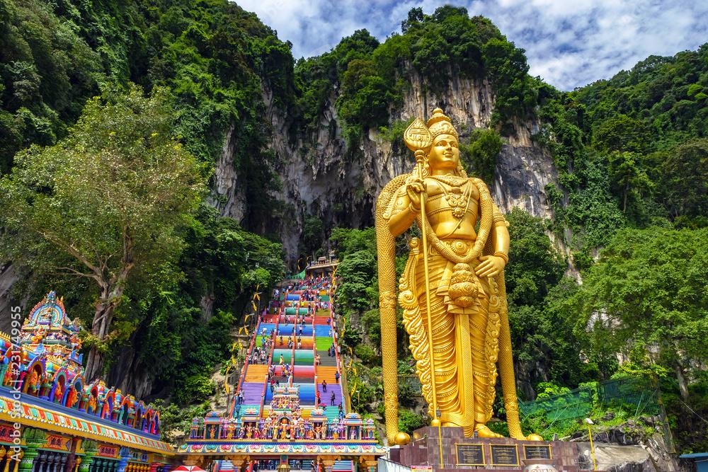 Fototapeta Batu cave in Malaysia, Hinduism temple