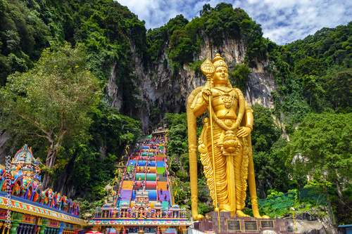 Photo Stands Historical buildings Batu cave in Malaysia, Hinduism temple